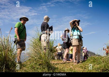 Sri Lanka, Ella, tourists on top of Little Adam's Peak, Sri Pada - Stock Photo