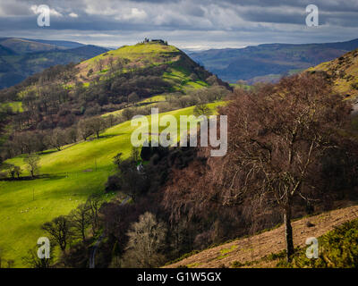Castell Dinas Bran, Llangollen, Wales, UK - Stock Photo