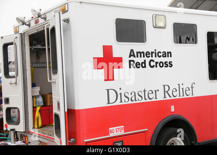 American Red Cross, disaster relief vehicle, USA - Stock Photo