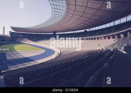 View of Berlin's Olympia Stadium. October 4, 2014, in Berlin, Germany - Stock Photo