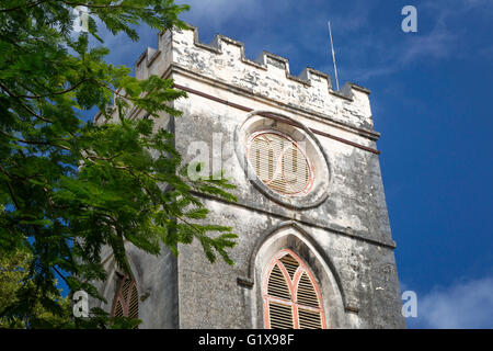 Tower of Saint Johns Parish Church, Barbados, West Indies - Stock Photo