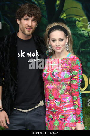 April 11, 2016 - Max Rogers and Kimberly Wyatt attending The Jungle Book European Premiere at BFI Imax in London, - Stock Photo