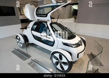 Volkswagen Nils electric concept car on display at Drive Forum showroom in Berlin Germany - Stock Photo
