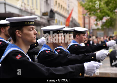 The traditional celebrations for the Norwegian national day on 17th of May. - Stock Photo