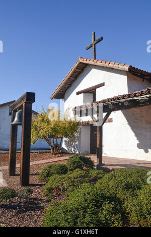 Front entrance of Mission San Francisco Solano - Stock Photo