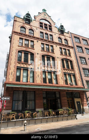 451 Washington Street, the old Fleming Smith Warehouse is a landmarked building in Tribeca, New York. - Stock Photo