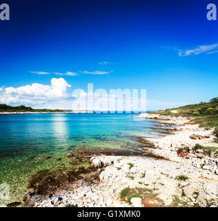 Summer Adriatic Seascape in Croatia - Stock Photo