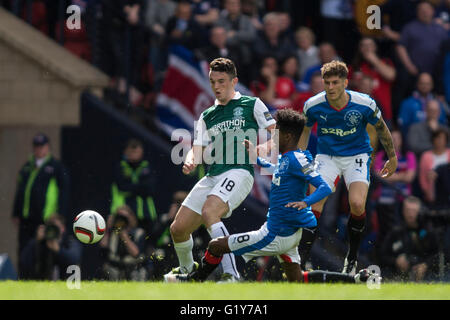 Hamden Park, Glasgow, Scotland. 21st May, 2016. Scottish Cup Final. Rangers versus Hibernian. Rangers Gedion Zelalem(8) - Stock Photo
