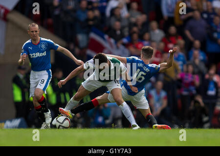 Hamden Park, Glasgow, Scotland. 21st May, 2016. Scottish Cup Final. Rangers versus Hibernian. Hibernian's John McGinn - Stock Photo