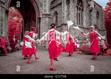 London, UK. 21st May, 2016. Nunhead Cemetery Annual Open Day. Photographed in Infrared Credit:  Guy Corbishley/Alamy - Stock Photo