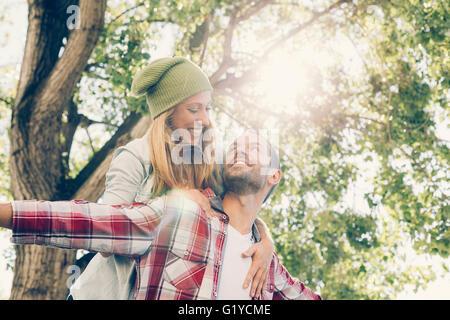 Young Couple visiting Paris - Stock Photo