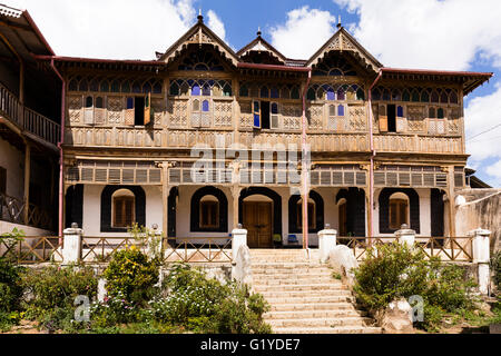 House from writer Arthur Rimbaud, Harar, Ethiopia - Stock Photo