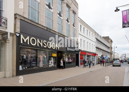 Monsoon clothes shop in the high Street in Cheltenham, Gloucestershire, UK - Stock Photo