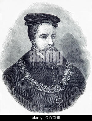 Thomas Stanley, 1st Earl of Derby, (1435 - 1504),  English nobleman and stepfather to King Henry VII of England. - Stock Photo