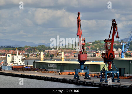 Port of Bilbao, Biscay, Basque Country, Euskadi, Spain, Europe, - Stock Photo