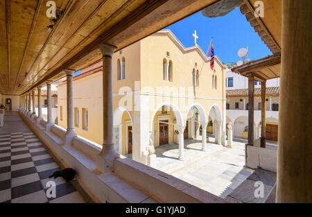 Greece, Hydra, Monastery of the Assumption of the Virgin ...