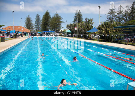 Openair Public Swimming Pool In Byron Bay With Lanes Marked For Lap Stock Photo 113142251 Alamy