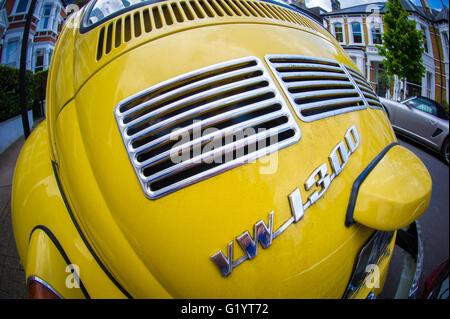 Vintage VW Beetle - Stock Photo