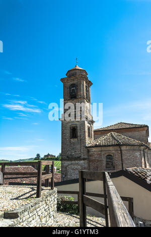 Bell Tower in Barbaresco,Italy - Stock Photo