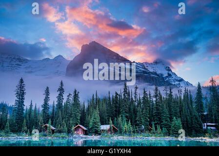 Cabins of Lake O'Hara Lodge, Yoho National Park, British Columbia, Canada