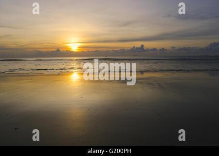 The empty Beach Sunset backdrop. - Stock Photo