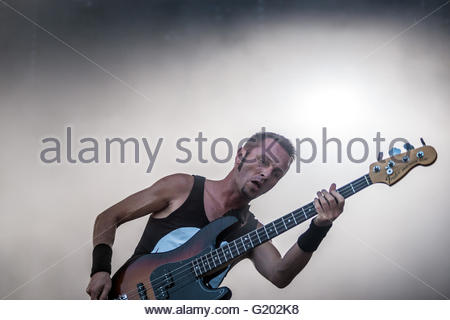 Heavy Metal band Gojira performing live - Stock Photo