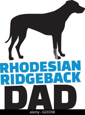 Rhodesian ridgeback dad with dog silhouette - Stock Photo