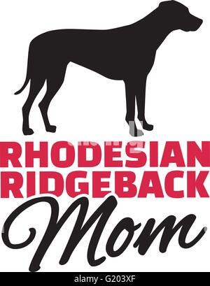 Rhodesian ridgeback Mom with dog silhouette - Stock Photo
