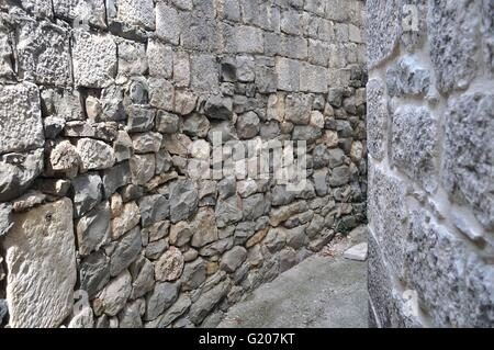 Texture of grey stone wall for background - Stock Photo