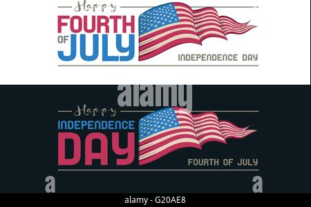Vector Fourth of July design. Independence Day of United States of America. - Stock Photo
