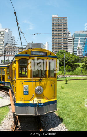 RIO DE JANEIRO, FEBRUARY, 19, 2016 - After many years in Rio de Janeiro again have launched a famous tram from Lapa - Stock Photo
