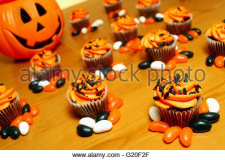 halloween inspired cupcakes stock photo - Halloween Inspired Cupcakes