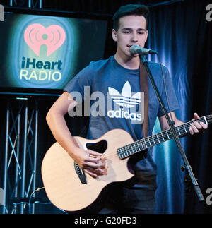 Bala Cynwyd, PA, USA. 19th May, 2016. American Singer-Songwriter Jacob Whitesides Visits Q102's Performance Theatre. - Stock Photo