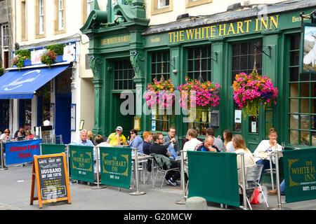 The White Hart Inn, Grassmarket, Edinburgh, UK - Stock Photo