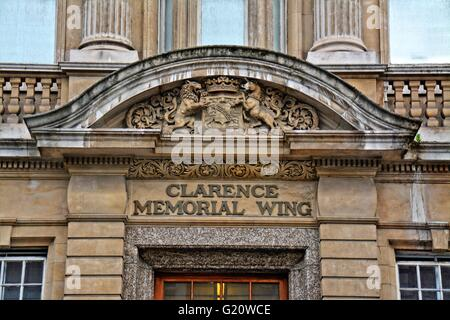 St Marys hospital, London, front view of the Clarence memorial wing.  St Mary's Hospital is the major acute hospital. - Stock Photo