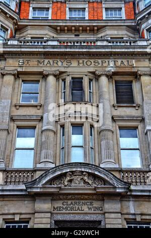 St Marys hospital, London, front view. St Mary's Hospital is the major acute hospital for north west London. - Stock Photo