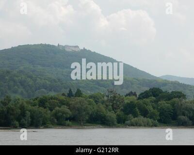 River Rhine landscape, near Bonn, Germany - Stock Photo