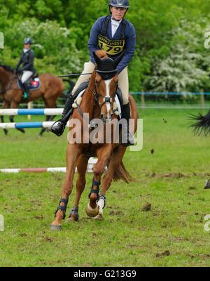 Rockingham Castle, Northamptonshire, UK. 21st May, 2016. Zara Tindall - Rockingham Castle International Horse Trials, - Stock Photo