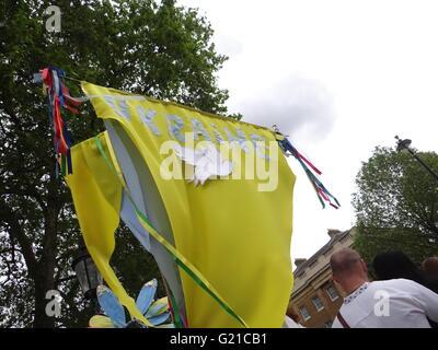 London, UK. 22nd May, 2016. Ukrainian Vyshyvanka March in London 2016, London, UK, 22th May 2016 Credit:  Nastia - Stock Photo