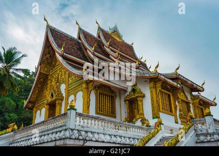 Buddhist temple Haw Pha Bang at the Royal Palace, Historic District, Luang Prabang, Louangphabang, Laos - Stock Photo