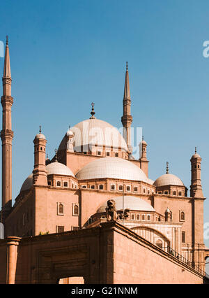 The Mosque of Muhammad Ali Pasha or Alabaster Mosque is a mosque situated in the Citadel of Cairo in Egypt and commissioned - Stock Photo
