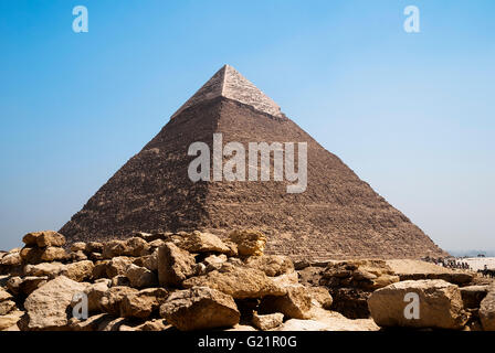 image of the great pyramids of Giza in Egypt - Stock Photo