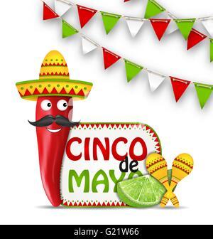 Holiday Celebration Background for Cinco De Mayo - Stock Photo