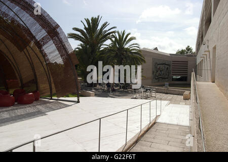 Fundació Pilar i Joan Miró a Mallorca, outside ramp and relaxing area, art, museum, Joan Mirò, Palma de Mallorca, - Stock Photo