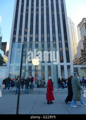 New York City, Apple Store at 59th Street - Stock Photo