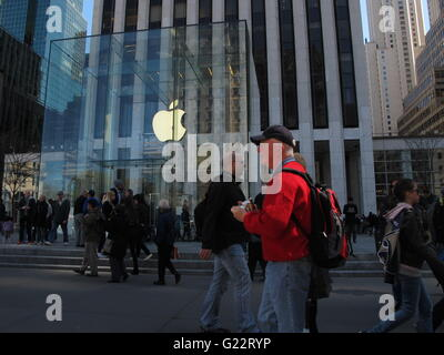 New York City. Apple store on Fifth Avenue - Stock Photo