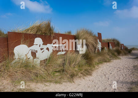 Juno Beach, Courseulles-sur-Mer, Normandy, France - Stock Photo