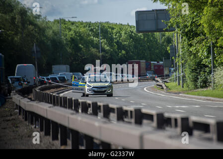 Northolt, London, UK. 23rd May 2016. The Parkway A413 was closed after a man believed to be in his twenties was - Stock Photo