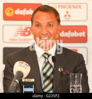Celtic Park, Glasgow, Scotland. 23rd May, 2016. Celtic unveil Brendan Rodgers as the new manager. Brendan Rodgers - Stock Photo