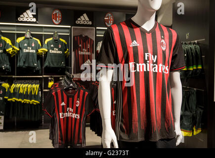 Milan, Italy. 23 may, 2016: The store of Giuseppe Meazza Stadium (also known as San Siro). in the pic: official - Stock Photo